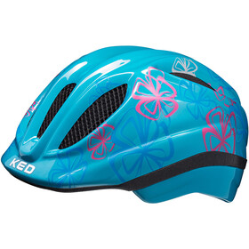 KED Meggy Trend Helmet Kids lightblue flower